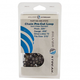 "Replacement Chain Loop Clamshell 72 DL .325"", .050, S-Chisel Standard"