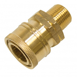"""Replacement Quick Coupler Socket 3/8"""" Male Brass"""