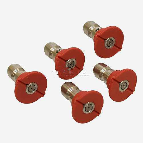 Replacement Quick Coupler Nozzle Set 0 Degree, Size 5.5, Red